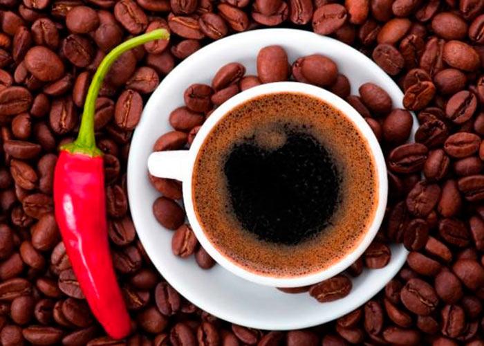 Кофе и перец чили