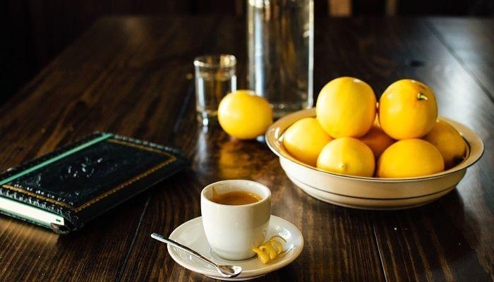 Кофе и лимон, фото