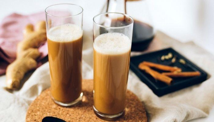Кофе с имбирем и корицей, фото