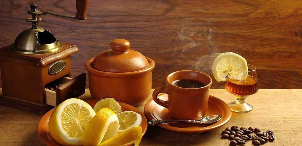 Кофе с лимоном, фото