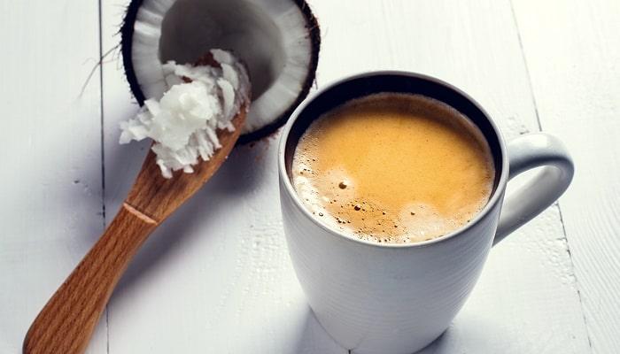 Кофе с молоком из кокоса, фото