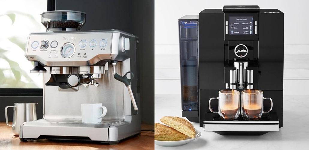 Две разные модели машины для кофе