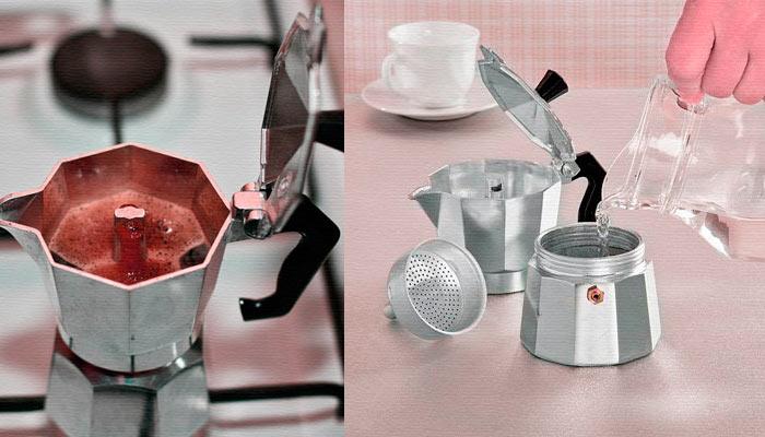 Варим кофе с помощью гейзерной кофеварки
