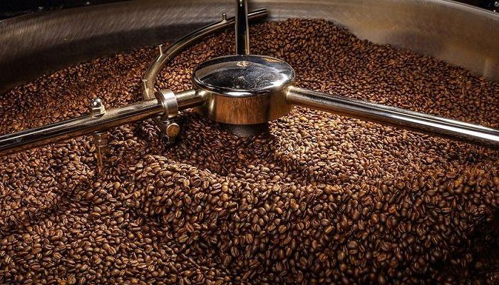 Процес обжарки кофе, фото