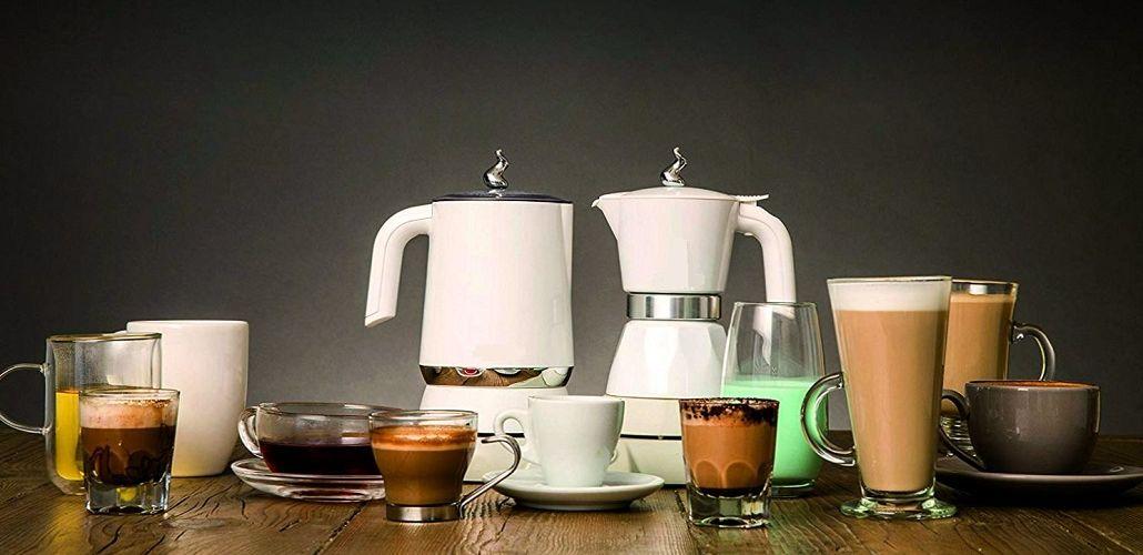 Электрическая гейзерная кофеварка, фото