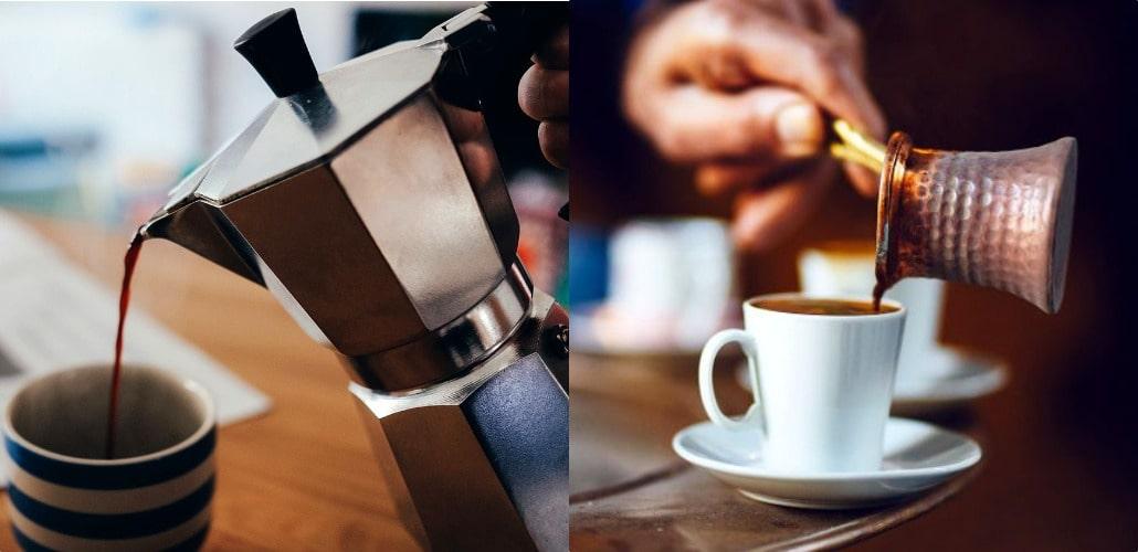 Что лучше, гейзерная кофеварка или турка
