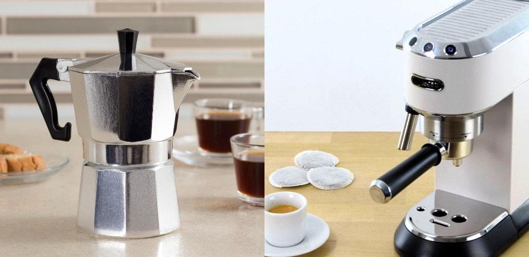 Рожковая и гейзерная кофеварка, фото