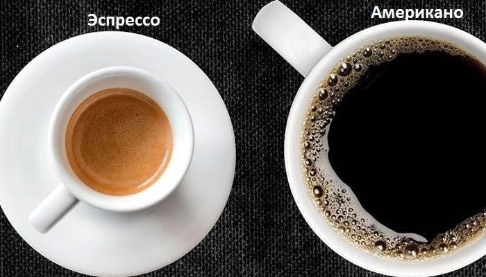Американо и эспрессо, фото