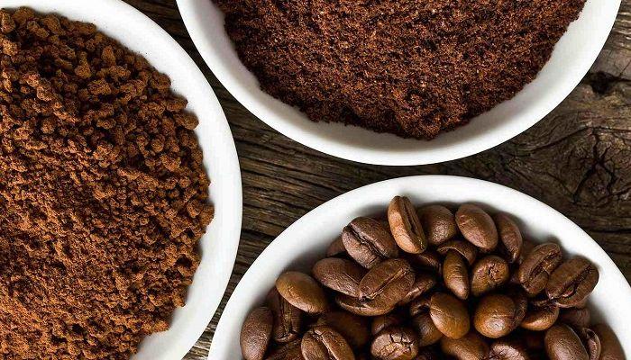 Зерновой и молотый кофе, фото