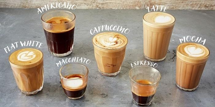 Виды кофенапитков, фото